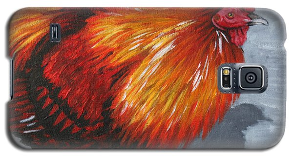 Galaxy S5 Case featuring the painting Bantam Rooster 2 by Penny Birch-Williams