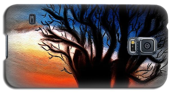 Galaxy S5 Case featuring the painting Baobab Tree 2 by Ayasha Loya