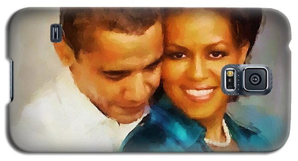Barack And Michelle Galaxy S5 Case by Wayne Pascall
