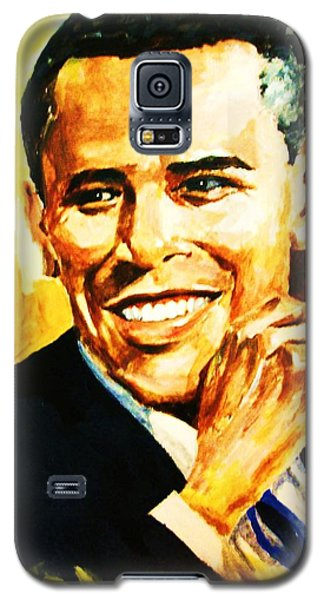 Galaxy S5 Case featuring the painting Barack Obama by Al Brown