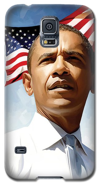 Barack Obama Galaxy S5 Case - Barack Obama Artwork 1 by Sheraz A