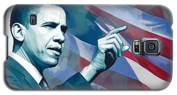 Barack Obama Galaxy S5 Case - Barack Obama Artwork 2 by Sheraz A