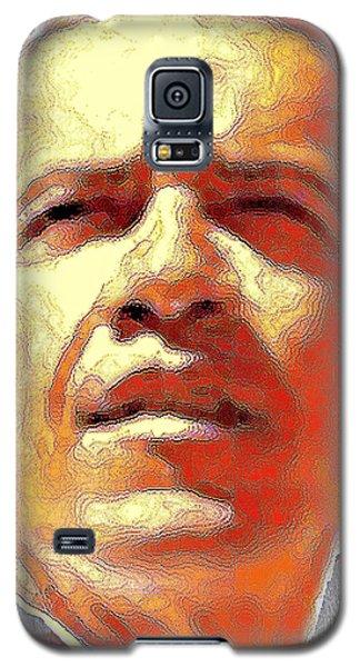 Barack Obama American President - Red White Blue Portrait Galaxy S5 Case