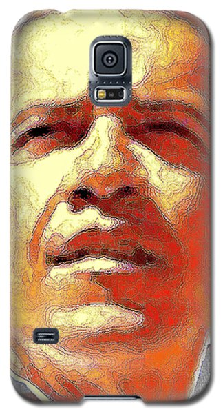 Barack Obama American President - Red White Blue Galaxy S5 Case by Art America Gallery Peter Potter