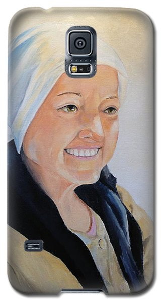 Galaxy S5 Case featuring the painting Barbara by Alan Lakin
