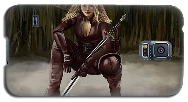 Barbarian Girl Galaxy S5 Case by Bogdan Floridana Oana