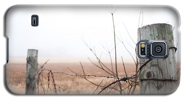 Barbed Wire Fence In The Fog Galaxy S5 Case