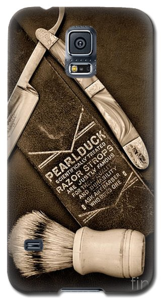 Barber - Tools For A Close Shave - Black And White Galaxy S5 Case by Paul Ward