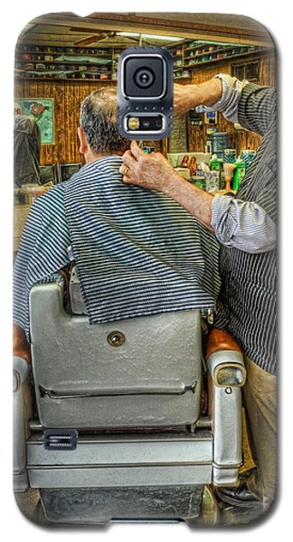 The Barber Shop Shave And A Haircut - Barber Shop Galaxy S5 Case by Lee Dos Santos