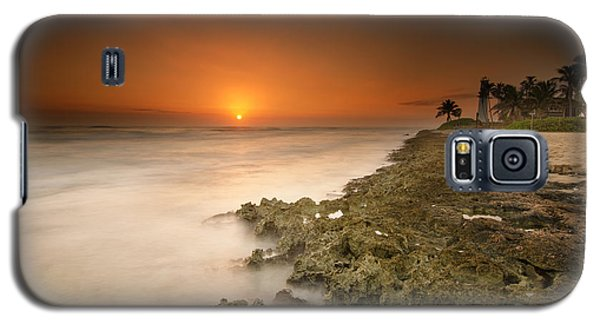 Barber's Point Light House Sunset Galaxy S5 Case