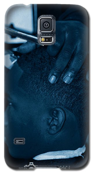 Galaxy S5 Case featuring the photograph Barbershop  Art by Jerome Lynch