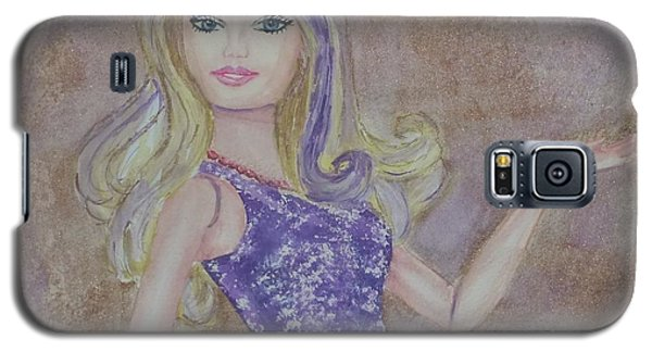 Galaxy S5 Case featuring the painting Barbie ... Purple by Kelly Mills