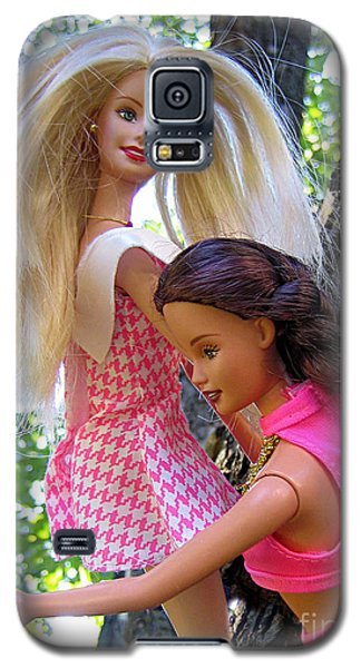 Galaxy S5 Case featuring the photograph Barbie's Climbing Trees by Nina Silver