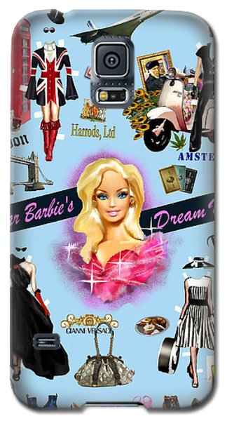 Galaxy S5 Case featuring the digital art Barbie's Superstar Dream Vacation by Jann Paxton