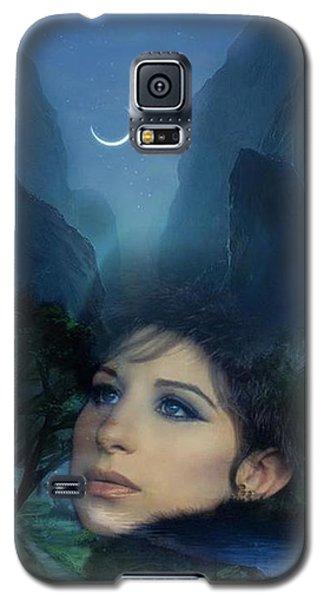 Barbra's Smiling Moon Galaxy S5 Case