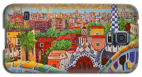 Barcelona Sunrise Light - View From Park Guell Of Gaudi - Square Format Galaxy S5 Case