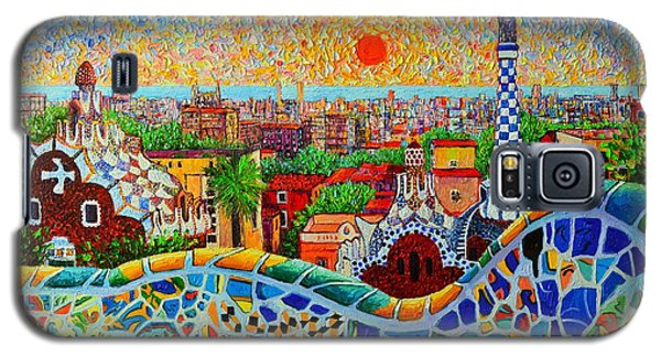 Barcelona View At Sunrise - Park Guell  Of Gaudi Galaxy S5 Case by Ana Maria Edulescu