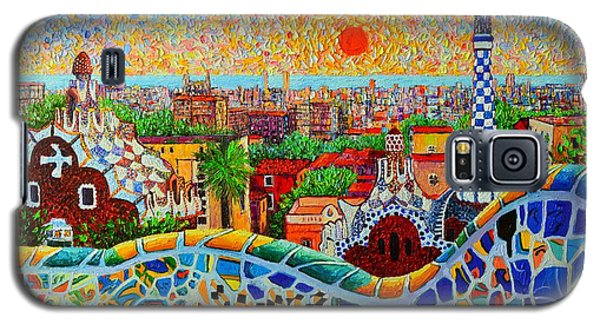 Barcelona View At Sunrise - Park Guell  Of Gaudi Galaxy S5 Case