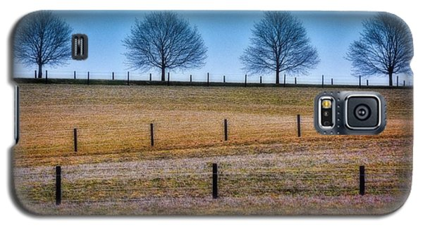Bare Trees And Fence Posts Galaxy S5 Case by Henry Kowalski