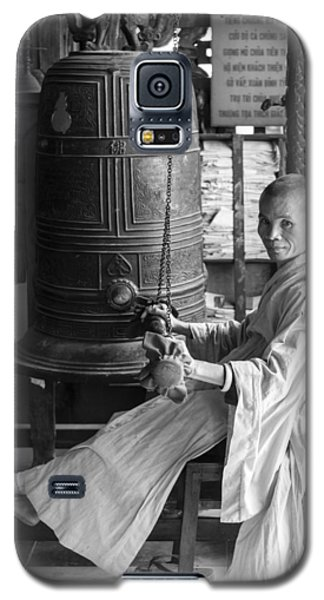 Galaxy S5 Case featuring the photograph Barefoot Buddhist Monk by Tina Manley
