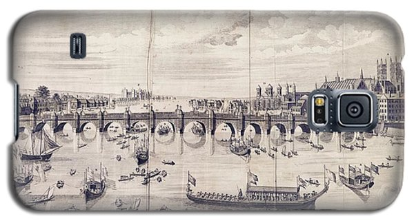 Barges At Westminster Bridge Galaxy S5 Case by Library Of Congress