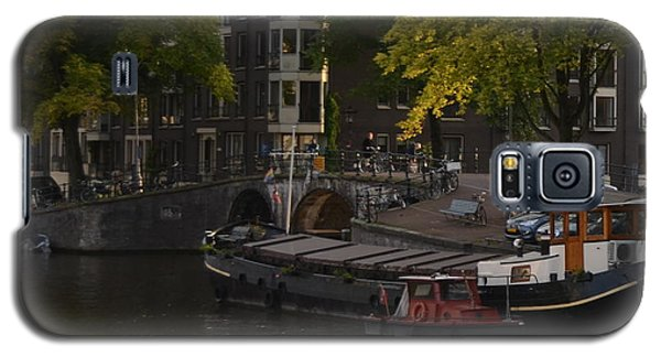 barges in Amsterdam Galaxy S5 Case