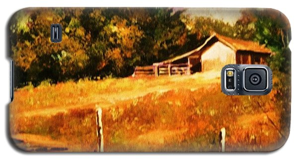 Galaxy S5 Case featuring the painting Barn Above The Creekbed by Al Brown