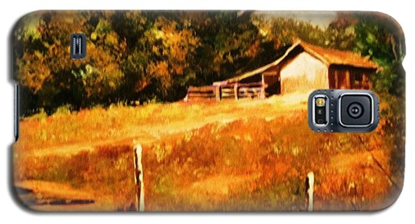 Barn Above The Creekbed Galaxy S5 Case