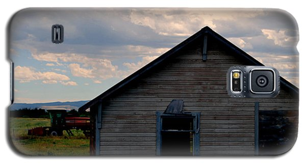 Galaxy S5 Case featuring the photograph Barn And Tractor by Matt Harang