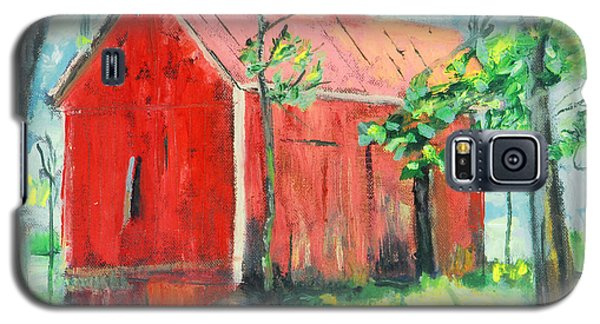 Galaxy S5 Case featuring the painting Barn At Walpack by Michael Daniels