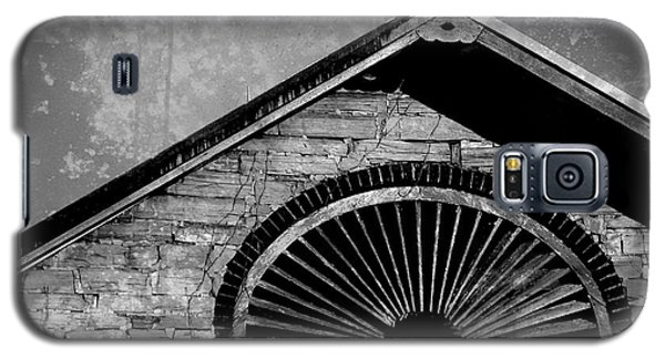 Galaxy S5 Case featuring the photograph Barn Detail - Black And White by Joseph Skompski