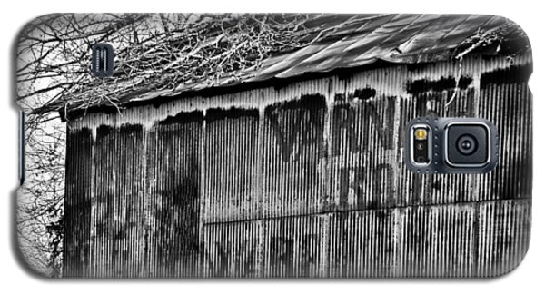 Galaxy S5 Case featuring the photograph Barn Ghost Sign In Bw by Greg Jackson