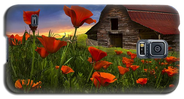 Barn In Poppies Galaxy S5 Case