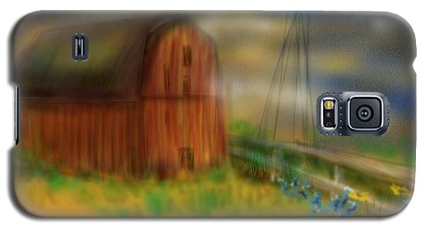 Galaxy S5 Case featuring the painting Barn by Marisela Mungia