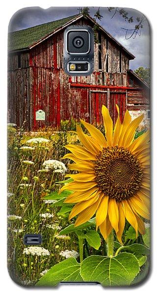 Barn Meadow Flowers Galaxy S5 Case