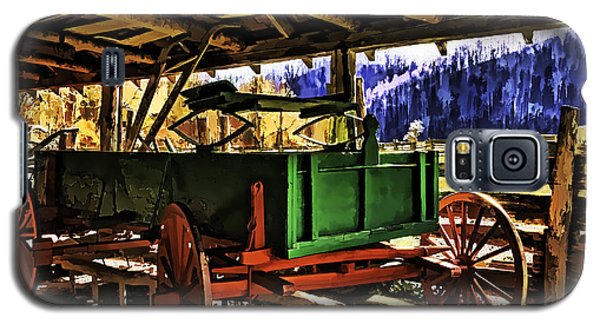 Galaxy S5 Case featuring the painting Barn by Muhie Kanawati