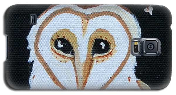 Galaxy S5 Case featuring the painting Barn Owl by Carolyn Cable
