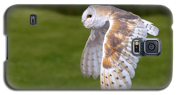 Galaxy S5 Case featuring the photograph Barn Owl In Flight by Nick  Biemans