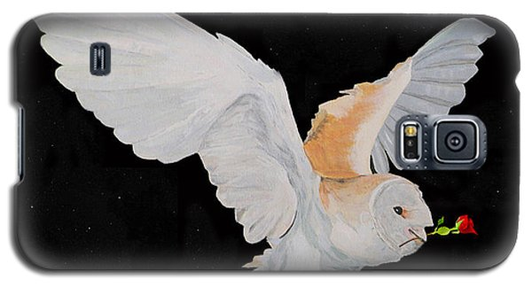 Barn Owl With Rose Galaxy S5 Case