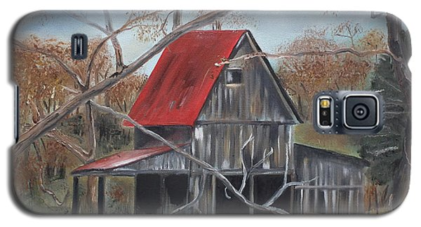 Barn - Red Roof - Autumn Galaxy S5 Case