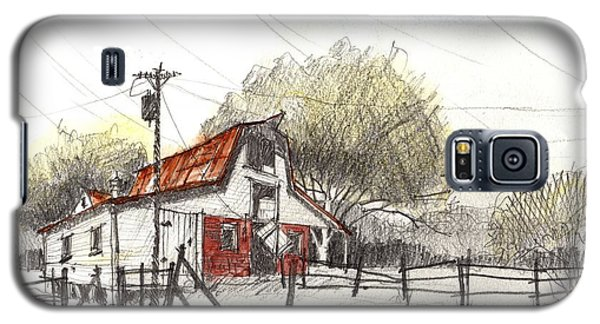 Galaxy S5 Case featuring the painting Barn Value Study by Tim Oliver
