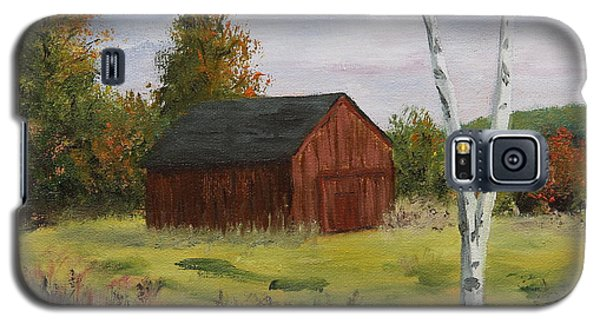 Barn With Lone Birch Galaxy S5 Case by Alan Mager