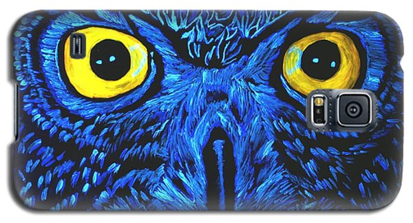 Galaxy S5 Case featuring the painting Barney Black Light View by Lisa Brandel
