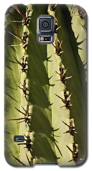 Galaxy S5 Case featuring the photograph Barrel Cactus by Sherri Meyer