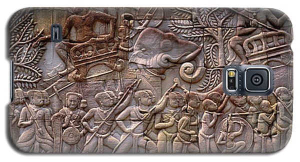 Bas Relief Angkor Wat Cambodia Galaxy S5 Case by Panoramic Images