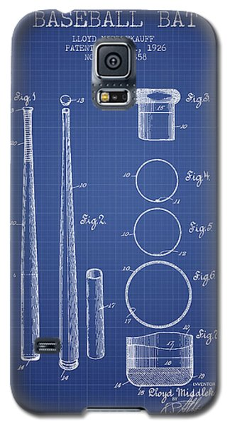 Baseball Bat Patent From 1926 - Blueprint Galaxy S5 Case