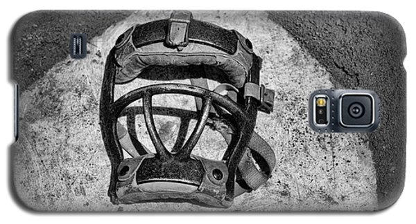 Baseball Catchers Mask Vintage In Black And White Galaxy S5 Case