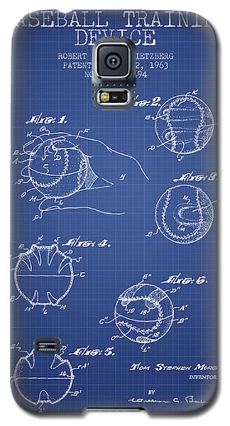Softball Galaxy S5 Case - Baseball Cover Patent From 1963- Blueprint by Aged Pixel