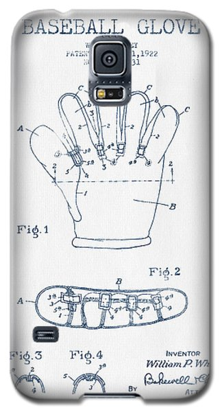 Baseball Glove Patent Drawing From 1922 - Blue Ink Galaxy S5 Case