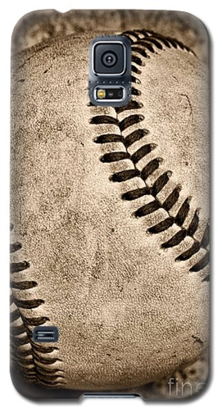 Baseball Old And Worn Galaxy S5 Case